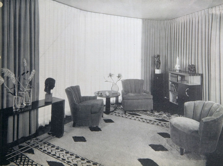House Of Tomorrow Interior 1930s Art Deco Living Room House Of Tomorrow 1930s Living Room