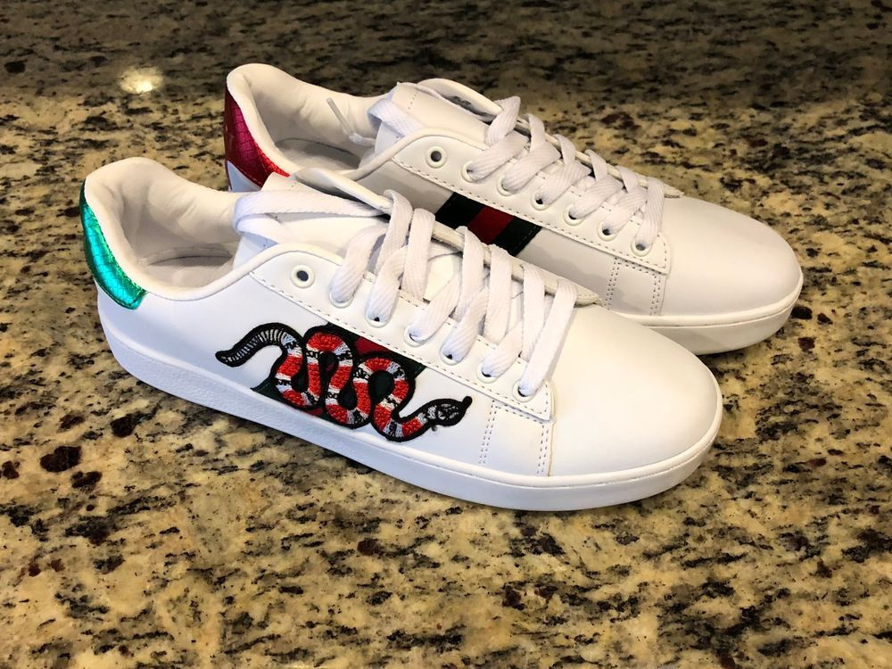 96e6a0805c3 Brand New Gucci Ace Sneakers with Snake  fashion  clothing  shoes   accessories