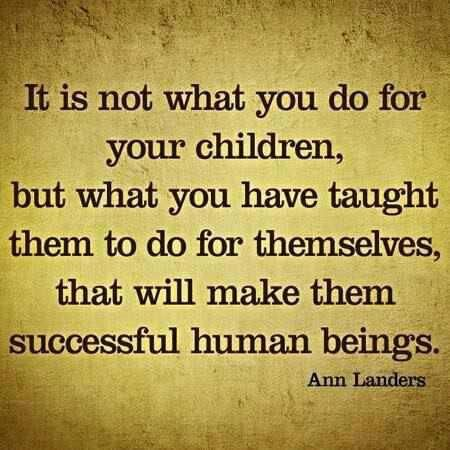 Teaching Children To Do Things For Themselves {Quote}