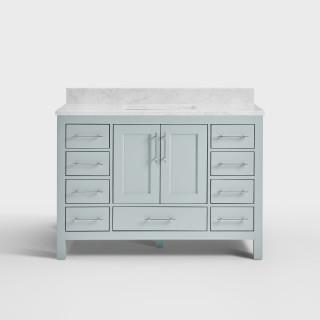 Buy The Kendall Sky Blue Bathroom Vanity 48 With Carrara Marble
