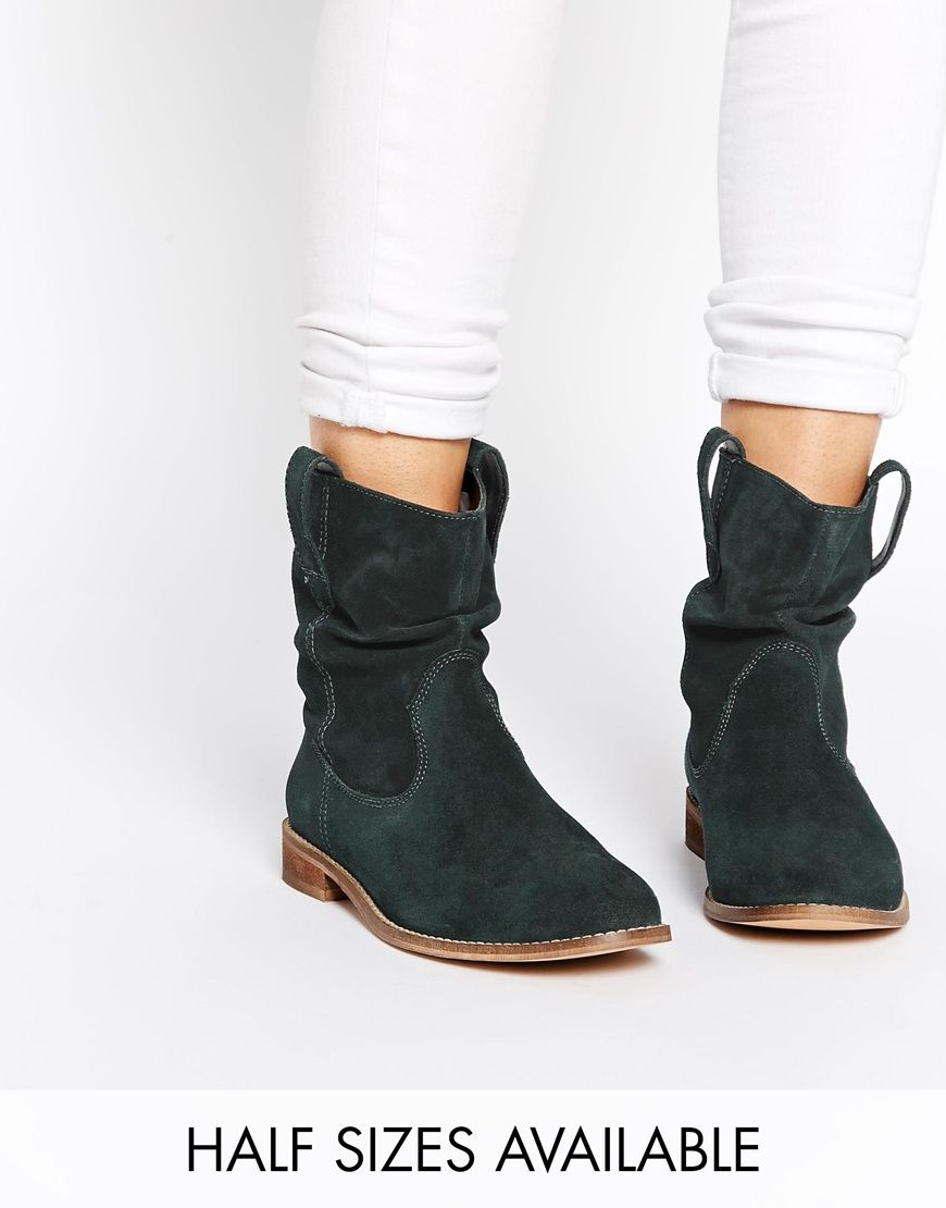 Buy Women Shoes / Asos Aloof Suede Pull On Ankle Boots