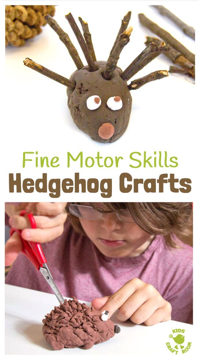Autumn Crafts - Cute Hedgehogs