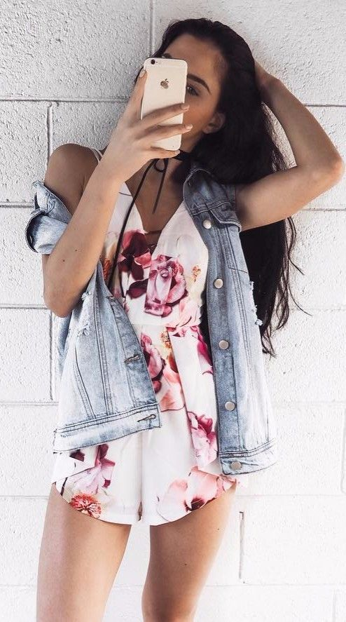 floral vibes: mixing my denim with everyhting