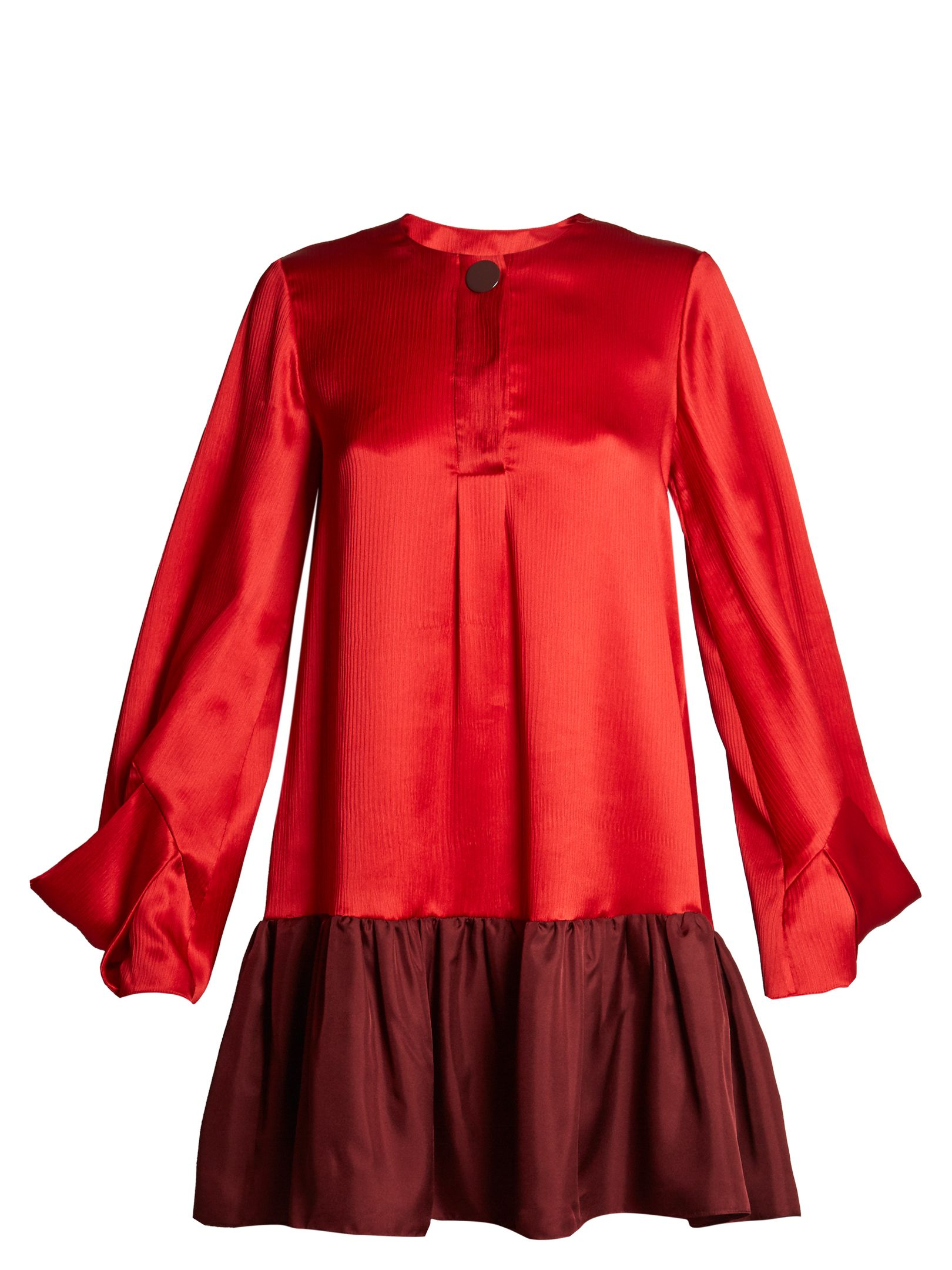 Roksanda katra bicolour satin dress dresses pinterest satin