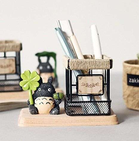 Heyfair Anese Anime Totoro Style Pen Pencil Holder Desk Organizer Unique Gift Brings More Fun Into Your Life Br Select Favorites