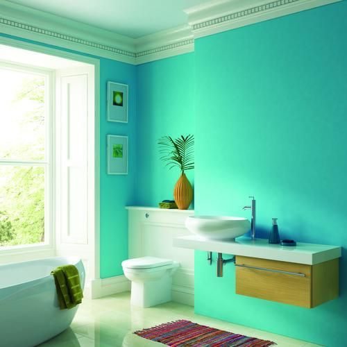 Bathroom paint hawaiian sky interior wall ceiling for Bathroom ceiling paint ideas