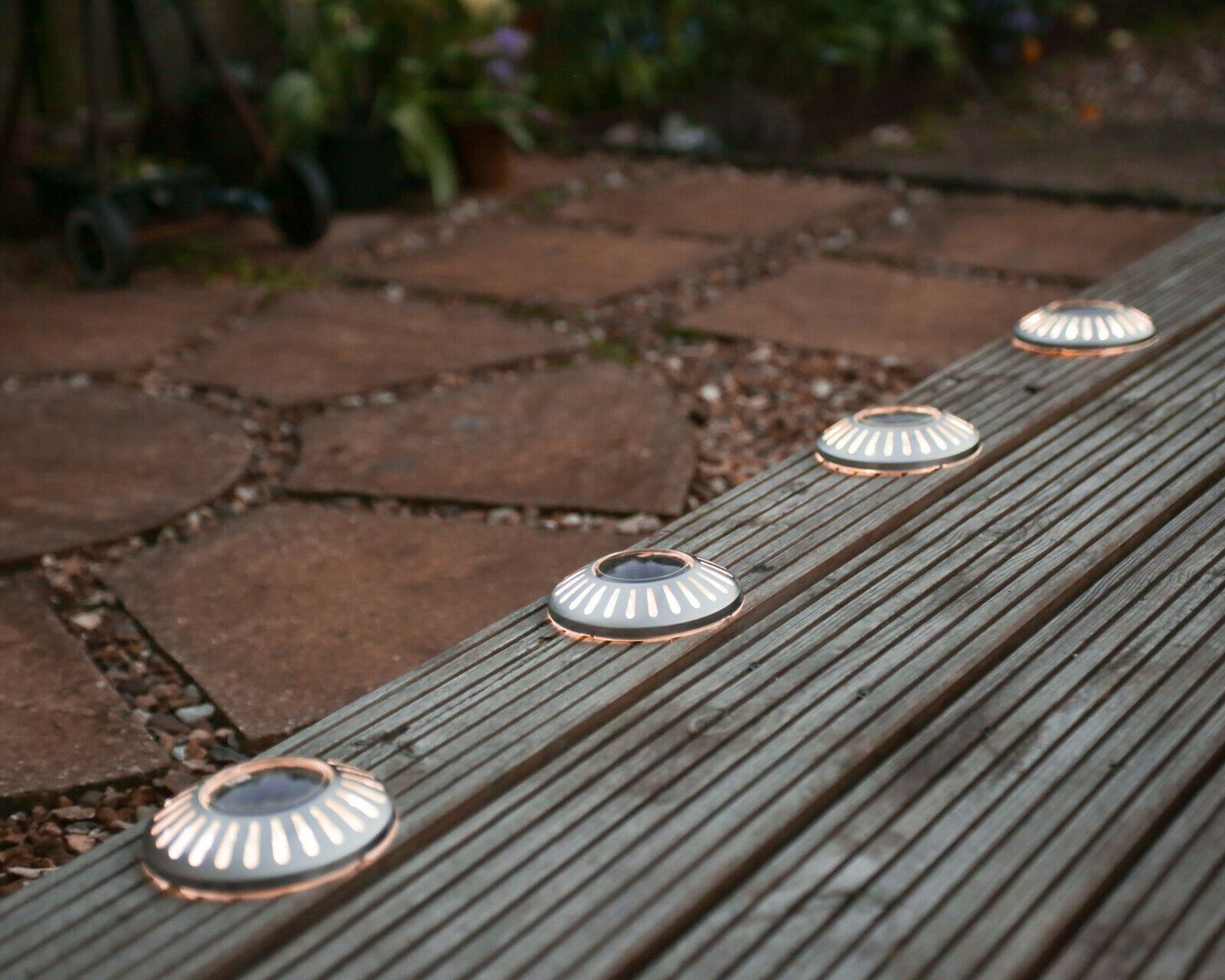 Solar Powered LED Garden Deck Lights Decking Driveway ...