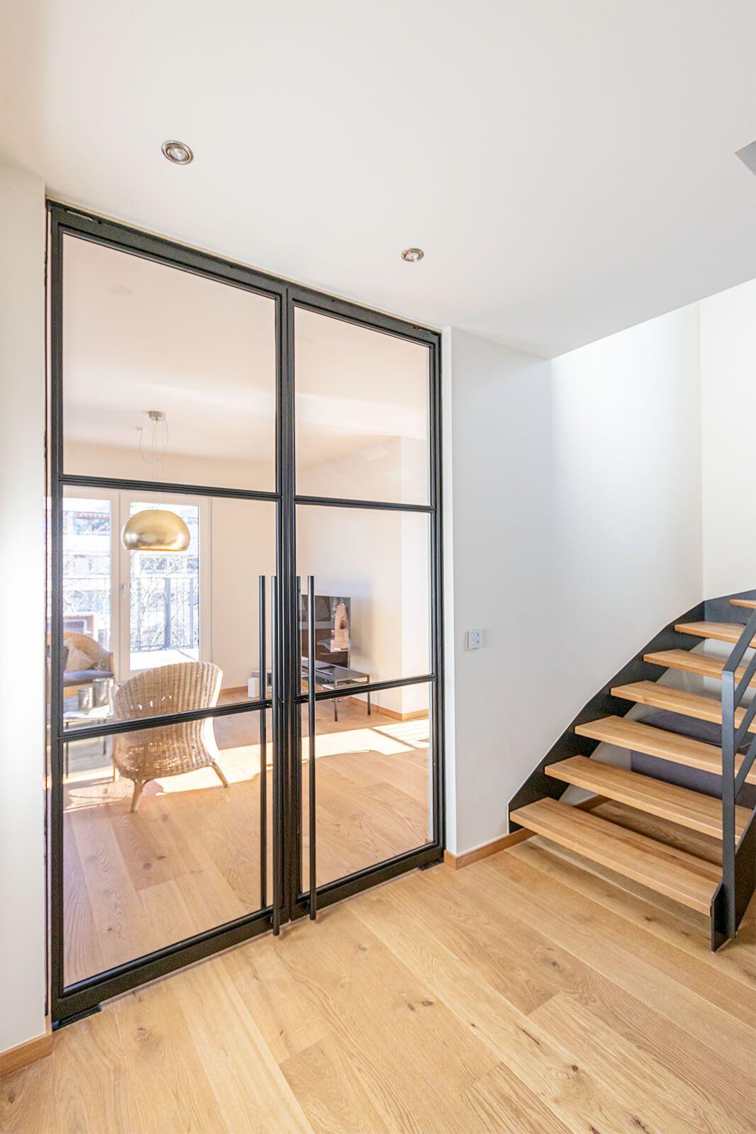 Stahl Loft Doppeltür – Schwingtür – Lofttür aus Glas und Stahl – Raumtrenner