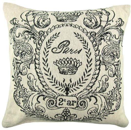 Best Paris Postage Decorative Pillow Throw Pillows Black 400 x 300