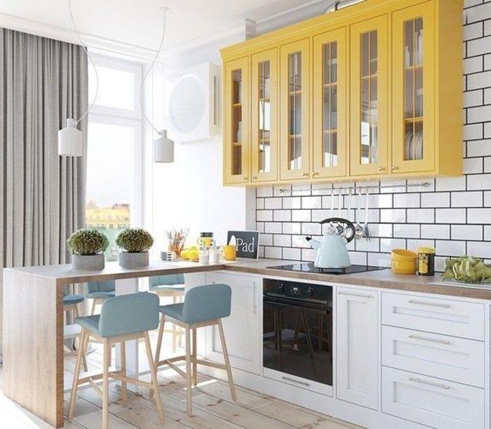 mueble de cocina amarillo cocina en blanco estilo escandinavo ...