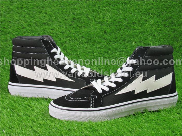 8ca6c4deec11fb REVENGE x STORM Vans SK8 Hi Lightning Black Skateboard Shoes C339 ...