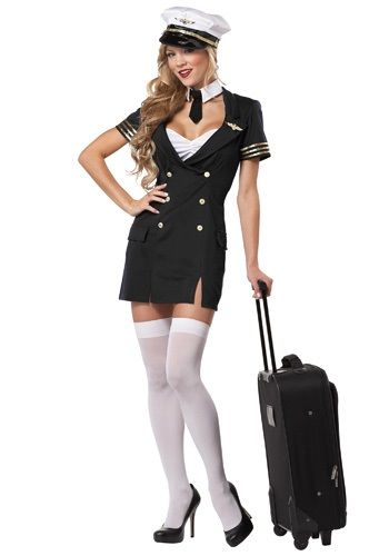 Plus Size Ready For Take Off Pilot Costume Pilot Costume Flight Attendant Costume Costumes For Women