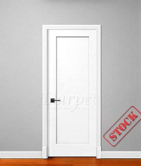 1 Panel Flat Shaker Style Primed 6 39 8 80 Darpet Interior Doors For Chicago Builders