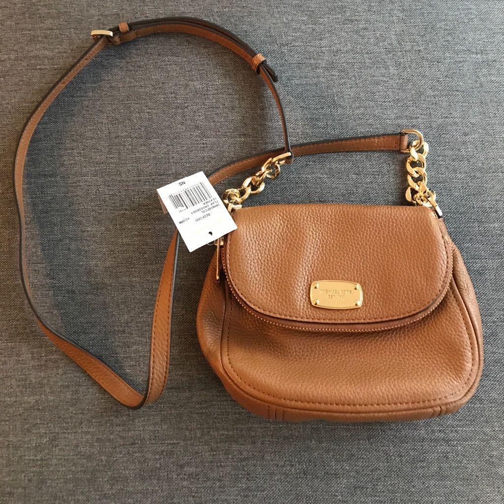 086f415839bf ... leather cross body bag 02a8c f5e1f; low price nwt michael kors bedford  mini cross body camel 46b70 3ae19