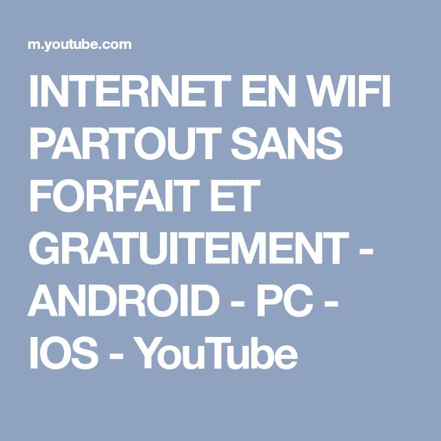 Comment Avoir Internet Sans Wifi