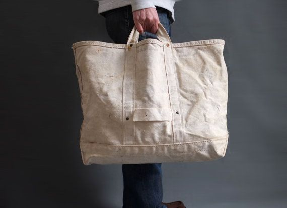 Vintage Bell System Heavy Duty Canvas work bag lineman bag (5 ...