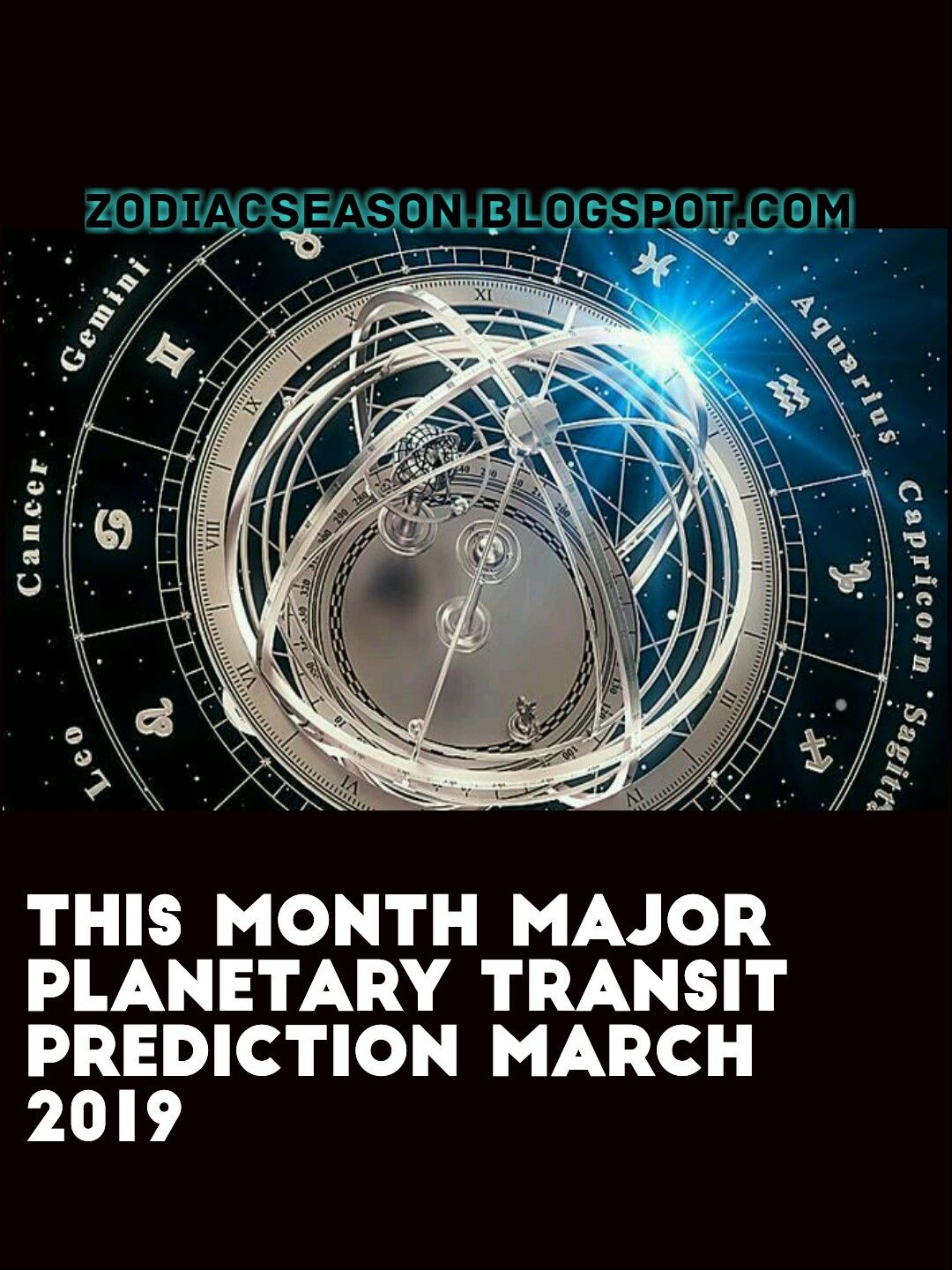 This month major planetary transit prediction March 2019