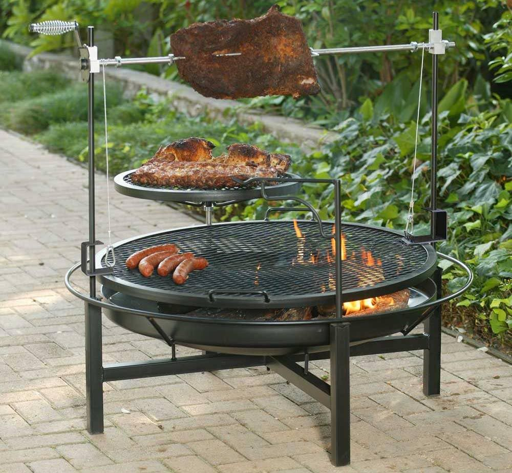 Cowboy Charcoal Grill and Fire Pit | Fire pit cooking, Outdoor bbq, Outdoor bbq grill