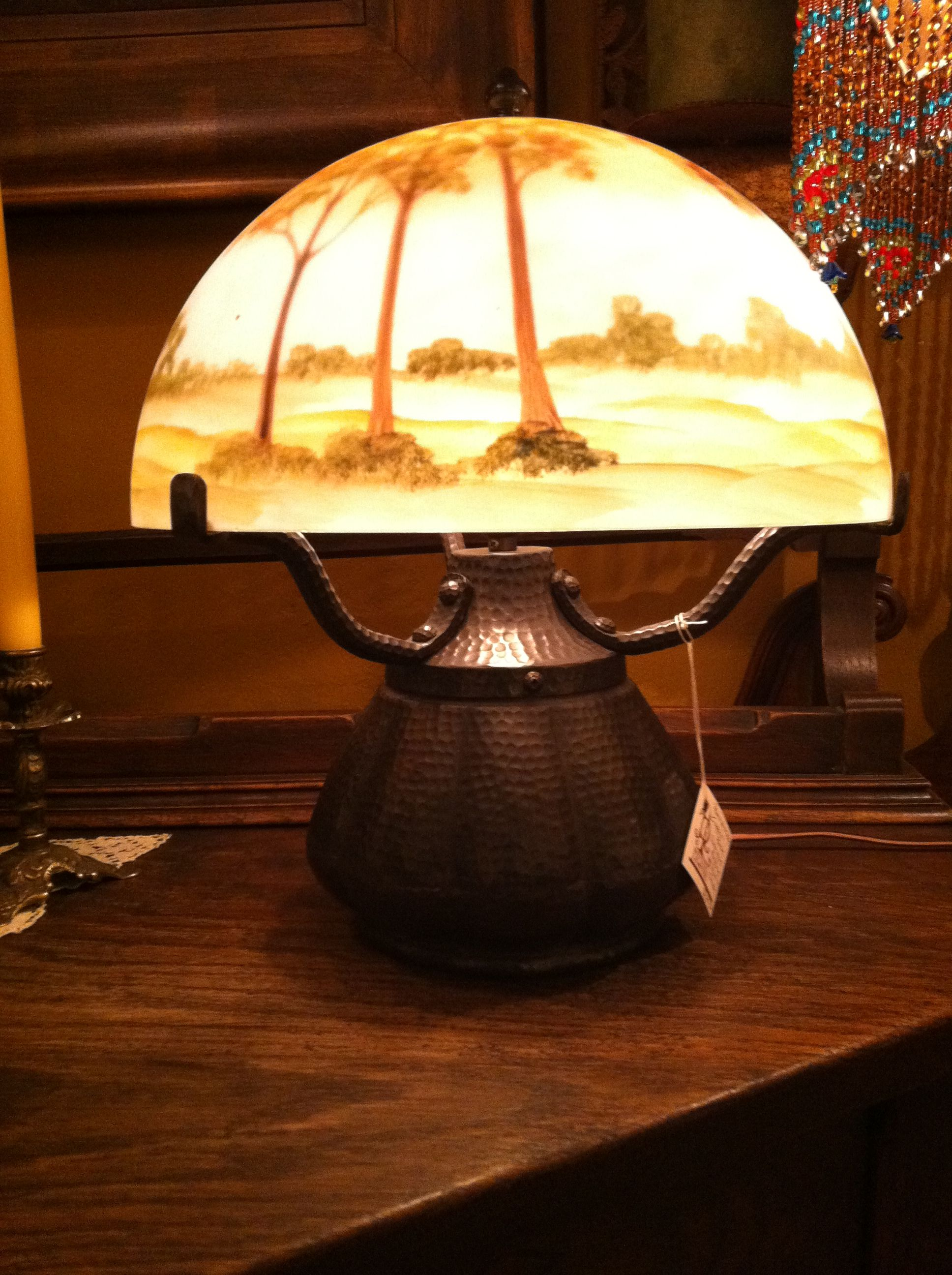 A Lovely Reverse Painted Shade Revival Lighting Spokane Wa