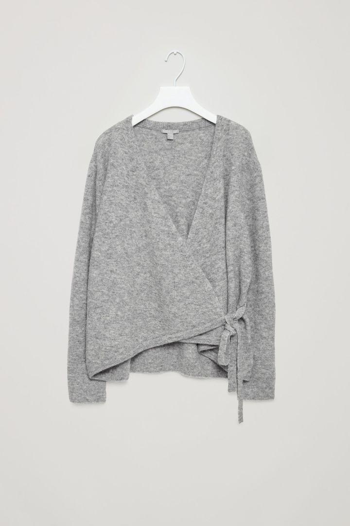 Wrap-over cardigan - Light Grey - New - COS DK 650kr. Str. M  b010ecbbc