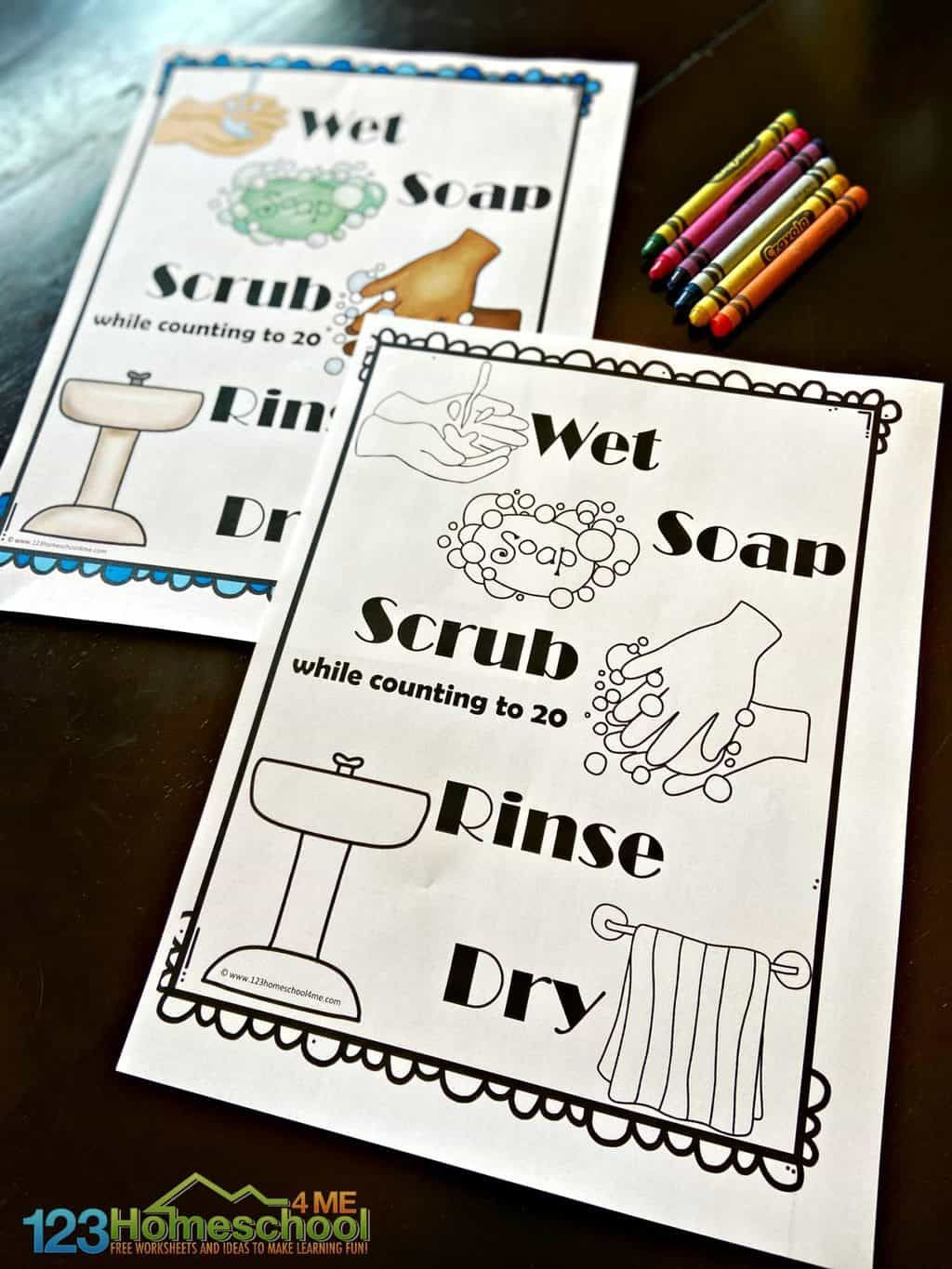 20 Free Hand Washing Signs For Kids