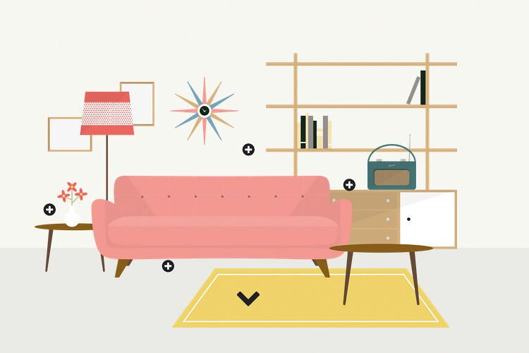 An Interactive Infographic of British Interior Design Trends by