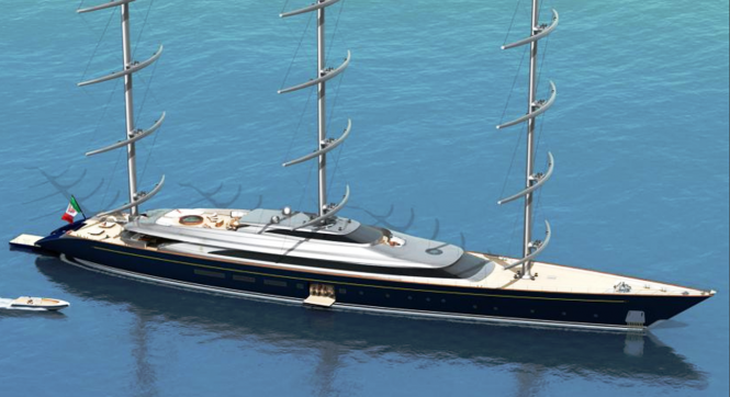 The New Perini Navi 335 Ft 102m Falcon Rig Sailing Superyacht Concept Maltese Falcon Yacht Yacht Super Yachts