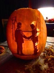Pink Floyd Wish You Were Here Pumpkin Carving | Pink Floyd Funny in