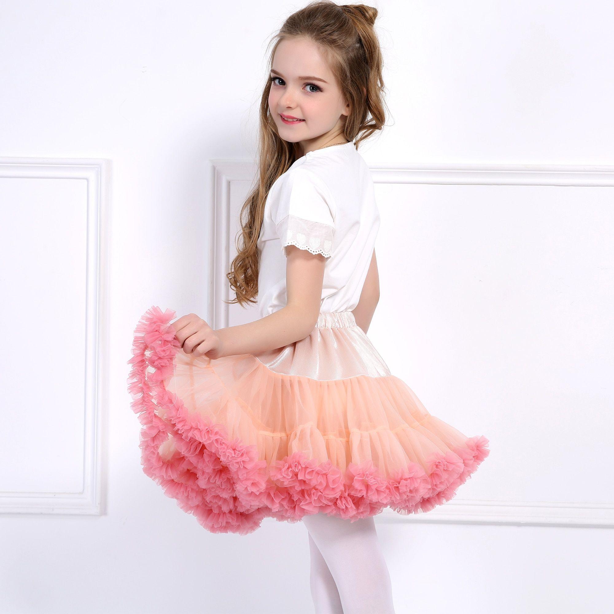 2PCS Baby Girls Floral Princess Pink Tutu Dress Kids Dance Party Headband Outfit