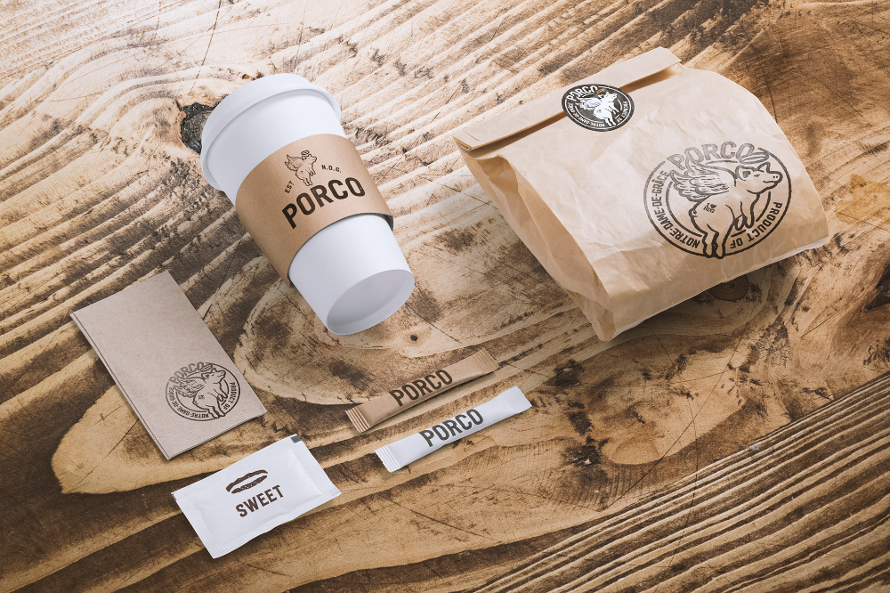 My Me You Porco Restaurant Branding Brand Packaging Branding