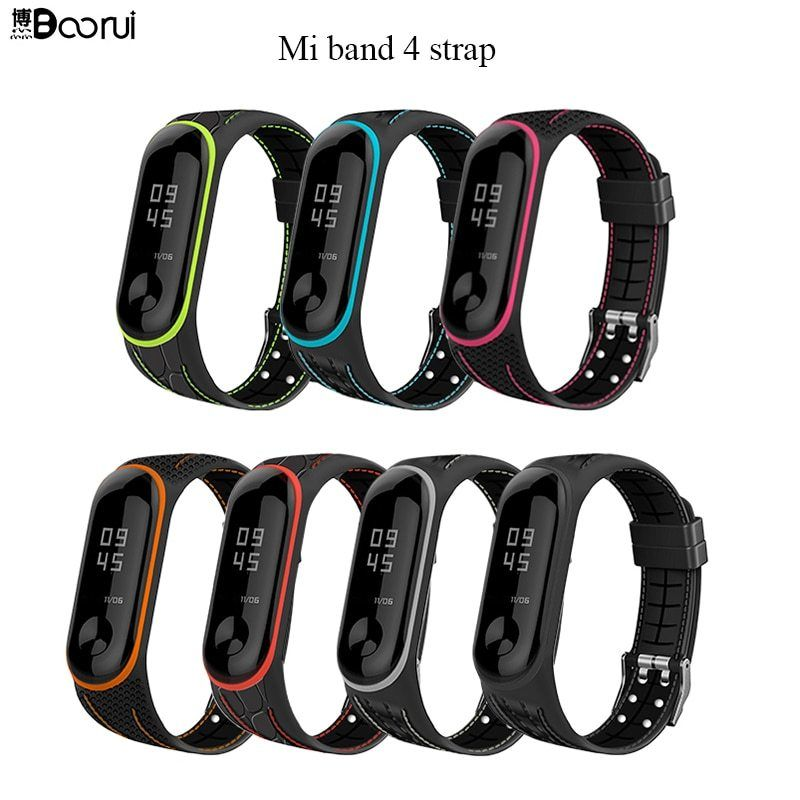 Boorui Mi Band 4 Strap Correa Mi Band 3 Breathable Strap For Xiaomi Mi Band 4 Multicolorful Sports Strap For Https Tobuyagain Com B Strap Breathable Band