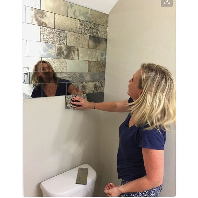 With Over 27000 Saves This Is One Of Our Most Pinned Pictures On Pinterest And To Think I Almost Didn T Mirrored Subway Tile Downstairs Toilet Toilet Room