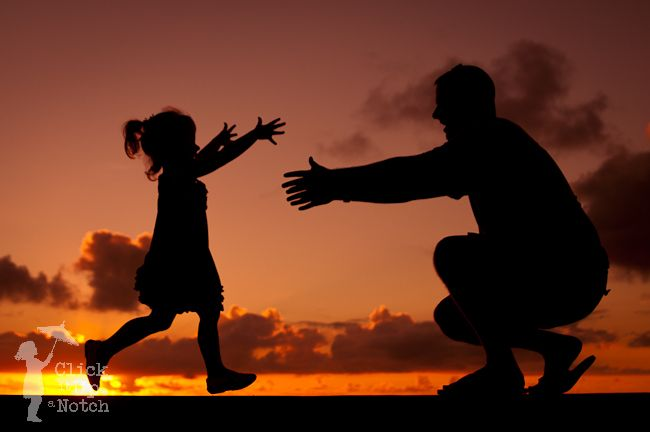6 Steps to Creating a Silhouette | Daddy daughter photos, Father daughter  photos, Silhouette