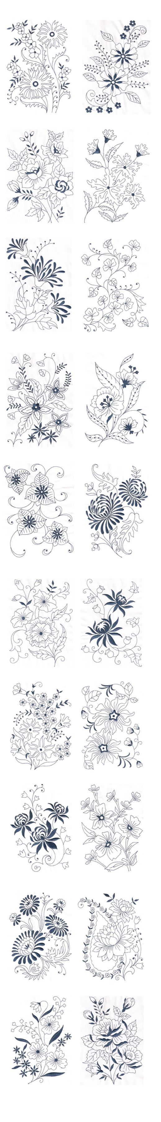Amazing emotions vintage florals machine embroidery designs