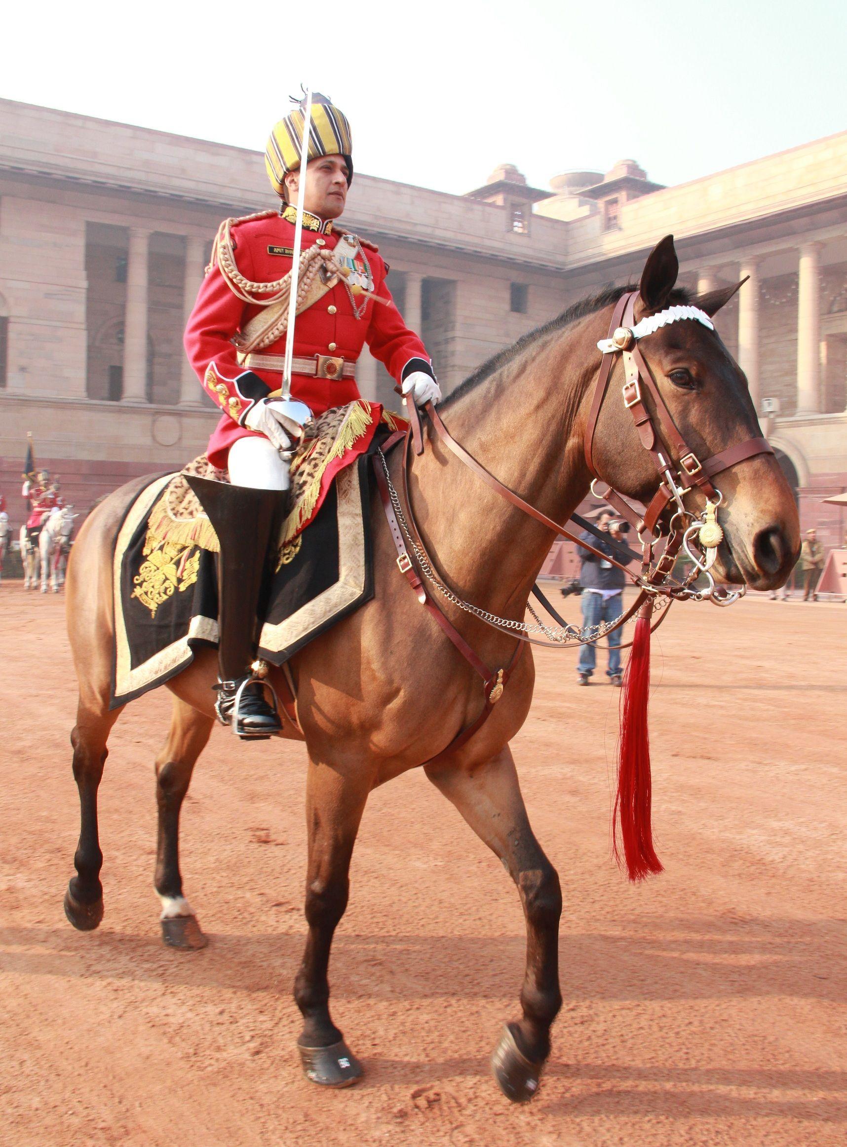 Indian Mounted President's Bodyguard (PBG) in ceremonial uniform [1716x2324]