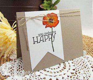 Pretty Poppy Card | AllFreePaperCrafts.com