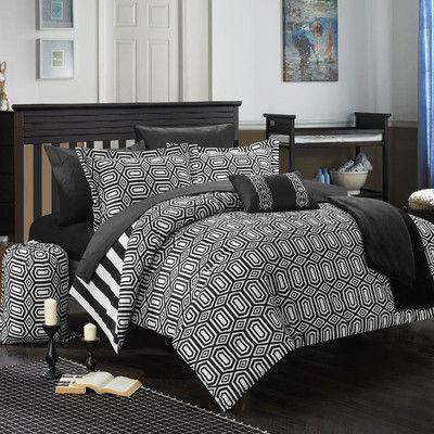 Chic Home Paris 10 Piece Full Comforter Set Color: