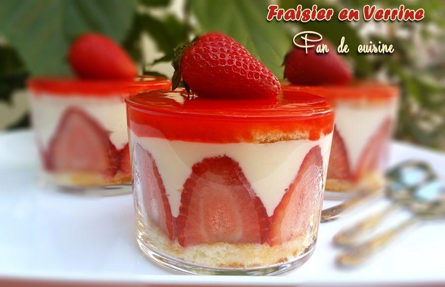fraisier en verrine