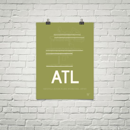 Atl Atlanta Runway Diagram Poster Diagram Modern Colors And Mid