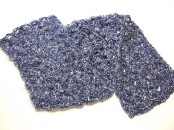 Asymmetric Shell Scarf crochet pattern for boucle or nubby yarn ...