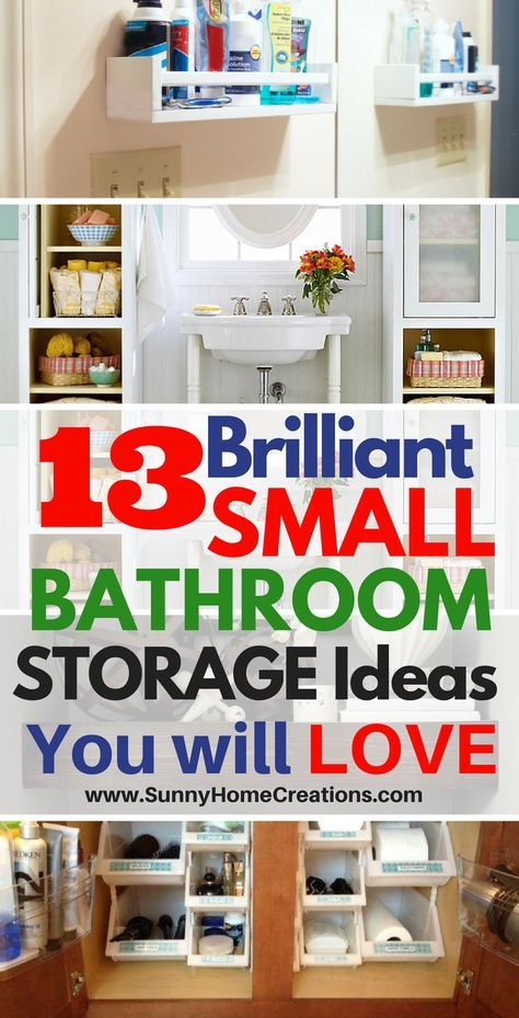 13 Mind Blowing Small Bathroom Storage Ideas is part of Home Accessories Design Bathroom Storage - You know that if you have a small bathroom without a lot of storage, how hard it is to find places to store all of your stuff  Between towels, toothbrushes and all your beauty equipment, your bathroom can quickly feel cluttered  If you are looking for small bathroom storage ideas, we have several for you