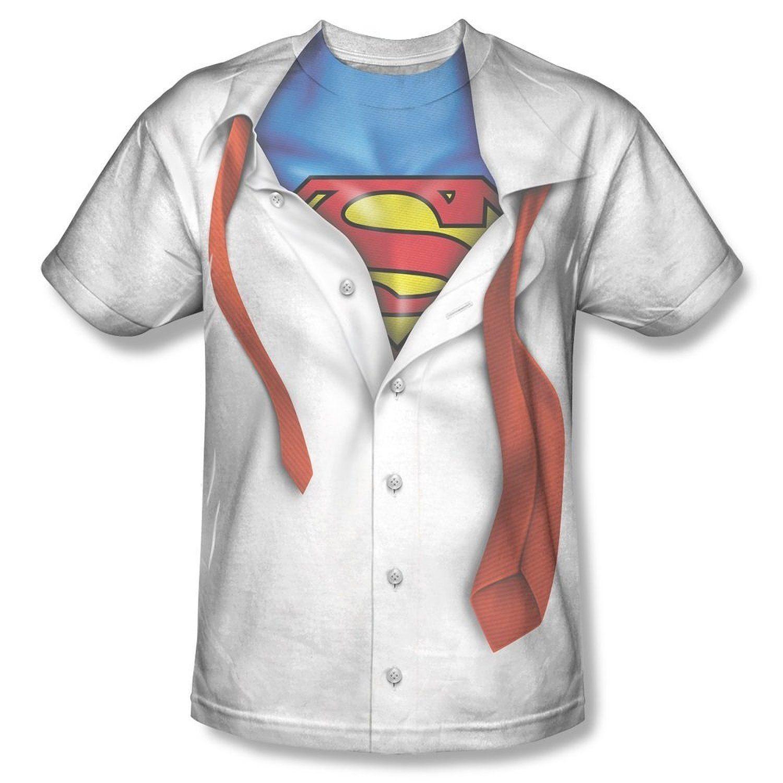 Clark Kent Superman Transform Tie Cotton T-shirt Costume ...