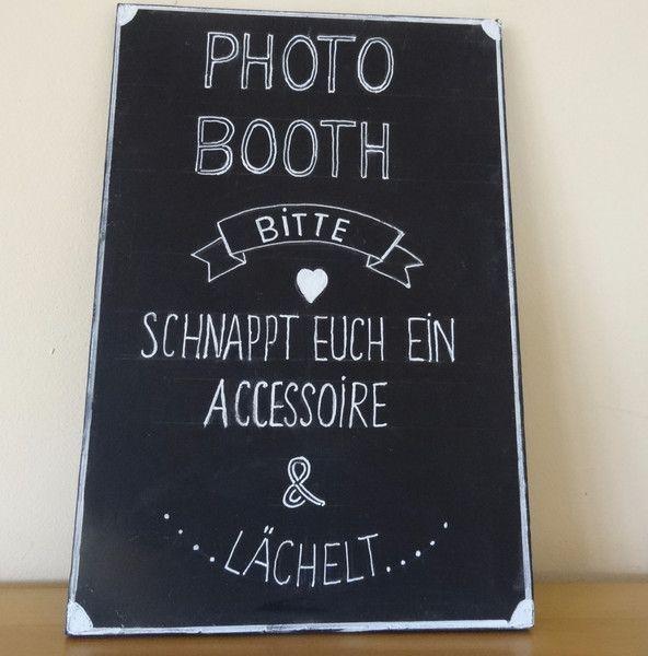 Hochzeitsdeko - Photo Booth Schild - ein Designerstück von Creative-Holz bei DaWanda