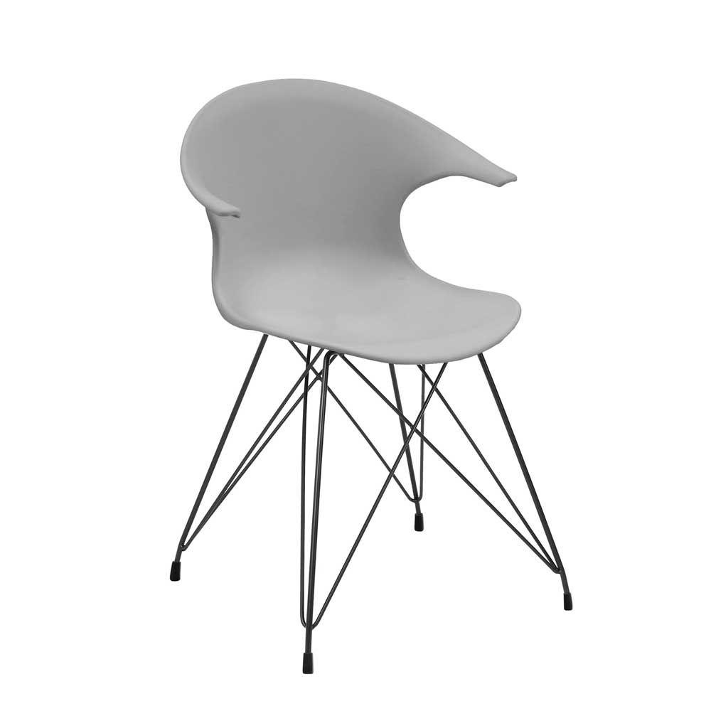 Küche und esszimmer designs kunststoff stuhl in hellgrau schwarz armlehnen er set jetzt