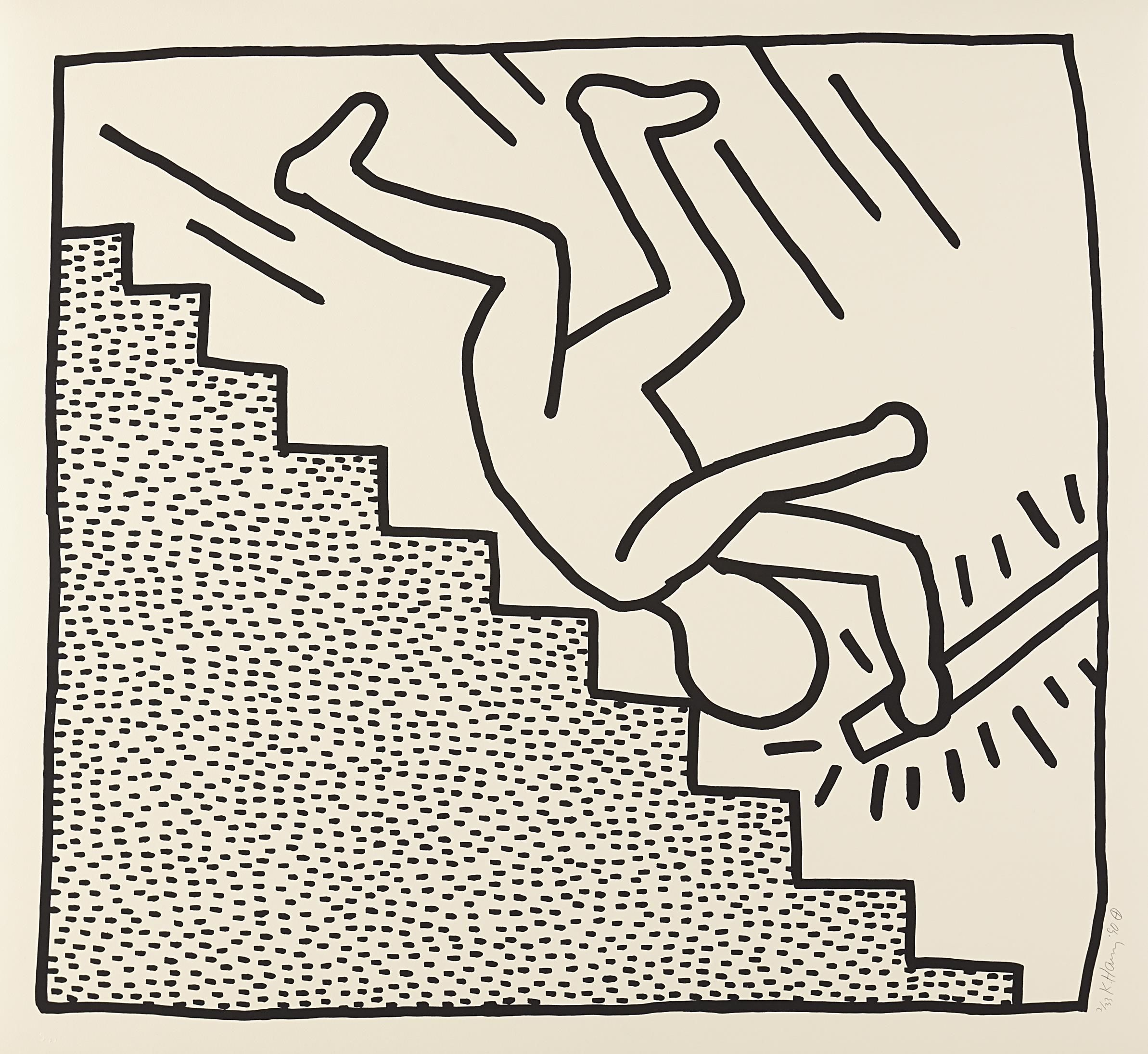 Keith haring blueprint drawing 16 1990 style me pretty keith haring blueprint drawing 16 1990 malvernweather Images