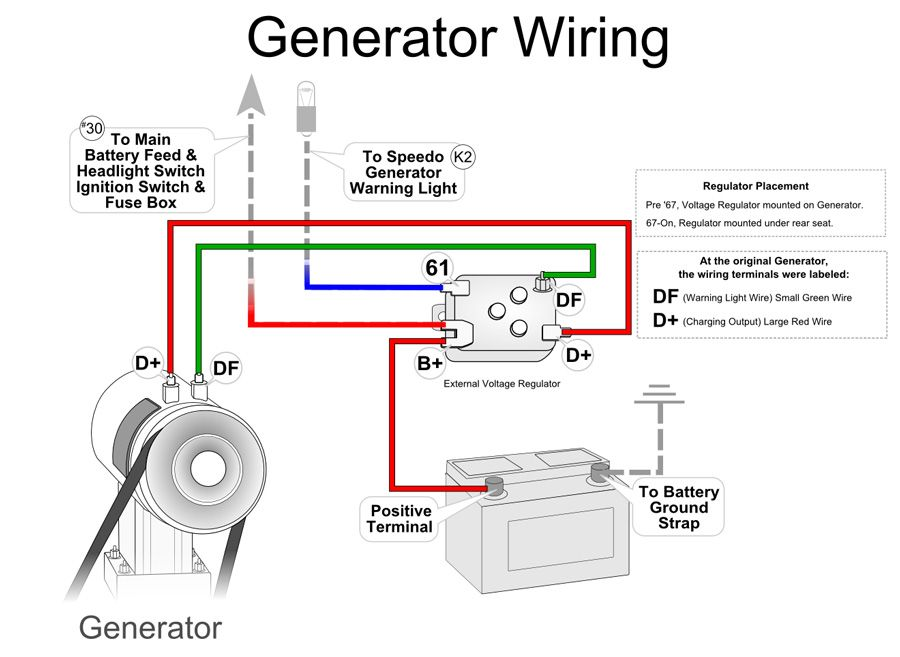 vw generator voltage regulator wiring