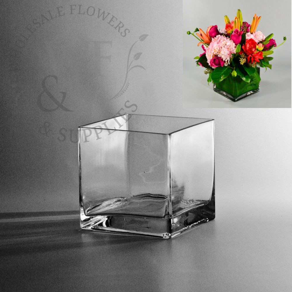 Square glass cube vase 5x5 glass cube cube and glass 5 square glass cube vase wholesaleflowersandsupplies reviewsmspy