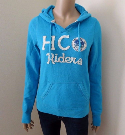 24.73$  Watch now - http://vivak.justgood.pw/vig/item.php?t=sxlxee44558 - Hollister Womens Hoodie Jacket Size Medium Sweater Sweatshirt Blue Top Shirt 24.73$
