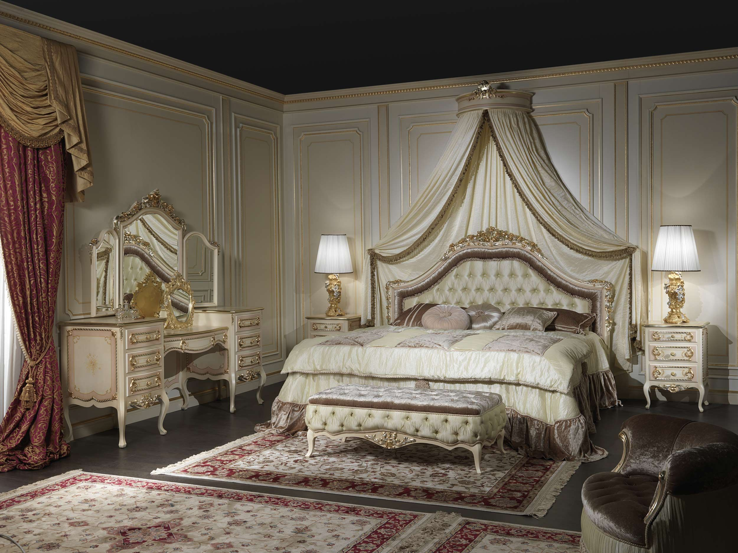 Bedroom furniture classic style louis xv from the handmade luxury
