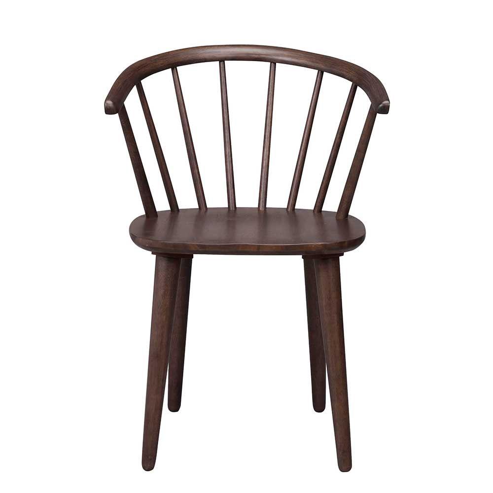 Retro Stuhl in Walnussfarben Holz massiv (2er Set) Jetzt bestellen ...